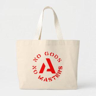 Anarchism - No Gods No Masters Large Tote Bag