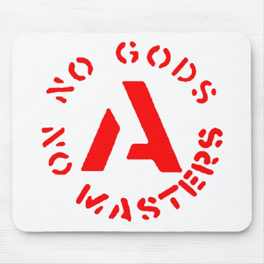 Anarchism - No Gods No Masters Mouse Pad