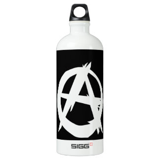 Anarchist and freedom aluminum water bottle