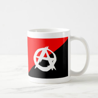 Anarchist Black White and Red Flag Coffee Mug