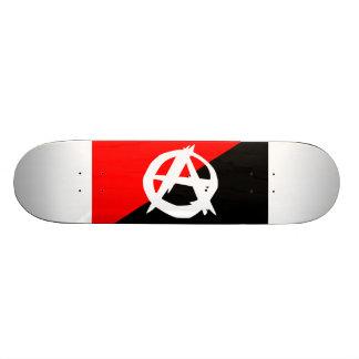 Anarchist Black White and Red Flag Skateboard Deck
