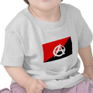 Anarchist Black White and Red Flag Shirt