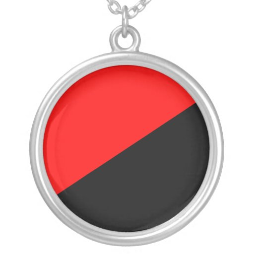 Anarchist, Colombia Political flag Round Pendant Necklace