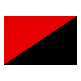 Anarchist, Colombia Political flag Poster