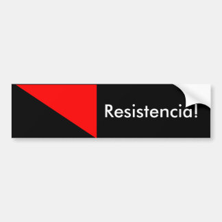 Anarchist Flag: Resistencia! Car Bumper Sticker