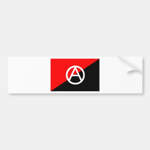 Anarchist flag with A symbol Bumper Stickers