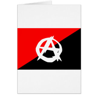 Anarchist flag with A symbol Card