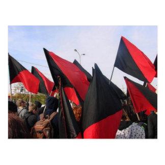 anarchist flags postcard