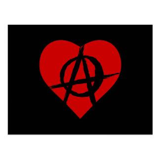 Anarchist heart postcard