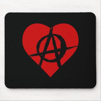 Anarchist heart alfombrilla de raton