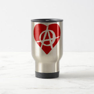 Anarchist heart taza térmica