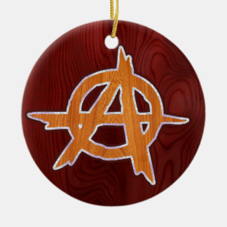 Anarchist Inlay Double-Sided Ceramic Round Christmas Ornament