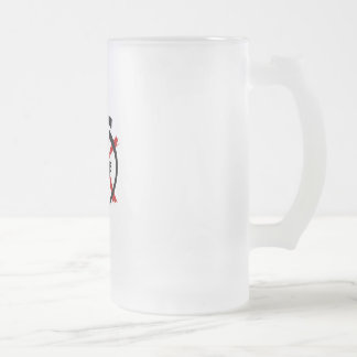 Anarchist Inside Frosted Glass Beer Mug