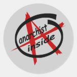 Anarchist Inside Round Sticker