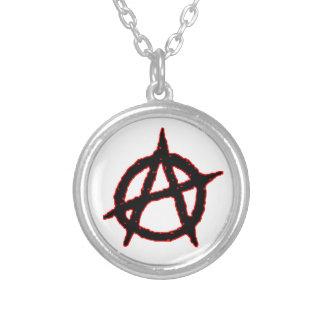 Anarchist Round Pendant Necklace