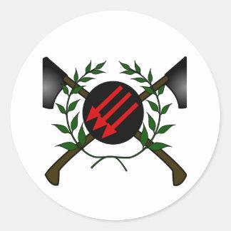 Anarchist Skinhead Communist Skin Head Red/Anarchy Classic Round Sticker