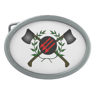 Anarchist Skinhead Communist Skin Head Red/Anarchy Oval Belt Buckle