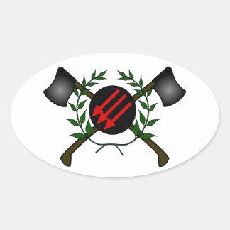 Anarchist Skinhead Communist Skin Head Red/Anarchy Oval Sticker