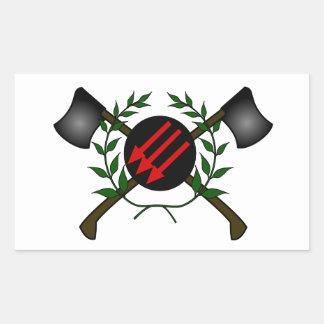 Anarchist Skinhead Communist Skin Head Red/Anarchy Rectangular Sticker