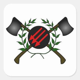 Anarchist Skinhead Communist Skin Head Red/Anarchy Square Sticker