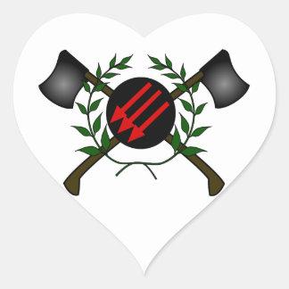 Anarchist Skinhead Communist Skin Head Red/Anarchy Heart Sticker