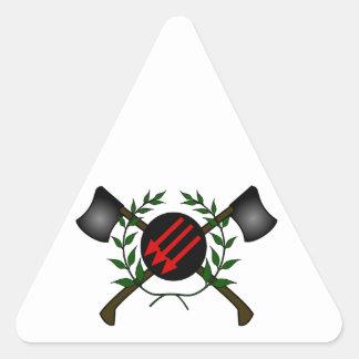 Anarchist Skinhead Communist Skin Head Red/Anarchy Triangle Sticker