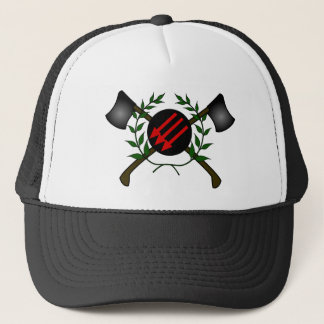 Anarchist Skinhead Communist Skin Head Red/Anarchy Trucker Hat