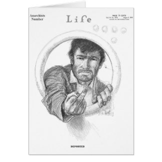 ANARCHISTS MAGAZINE COVER - Vintage Life Card