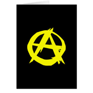 Anarcho Capitalism Black and Yellow Flag Greeting Card