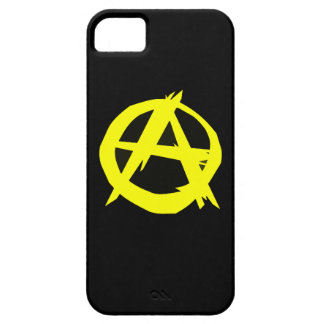 Anarcho Capitalism Black and Yellow Flag iPhone SE/5/5s Case