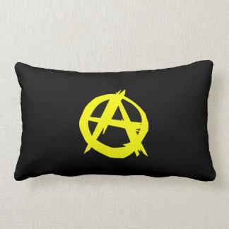 Anarcho Capitalism Black and Yellow Flag Lumbar Pillow