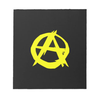 Anarcho Capitalism Black and Yellow Flag Note Pad