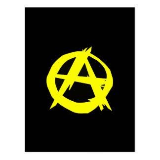 Anarcho Capitalism Black and Yellow Flag Postcard