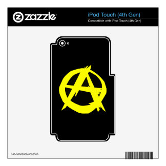 Anarcho Capitalism Black and Yellow Flag Skin For iPod Touch 4G