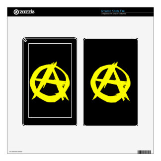 Anarcho Capitalism Black and Yellow Flag Kindle Fire Decal