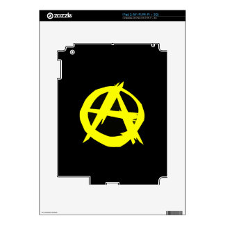 Anarcho Capitalism Black and Yellow Flag Decal For The iPad 2