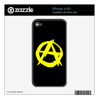 Anarcho Capitalism Black and Yellow Flag iPhone 4S Skin