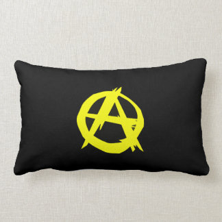 Anarcho Capitalism Black and Yellow Flag Throw Pillow