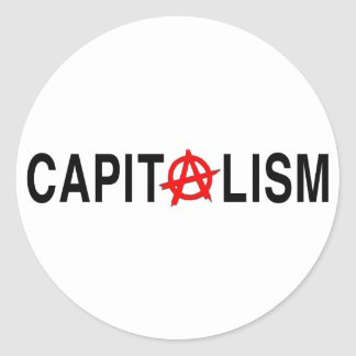Anarcho Capitalism Classic Round Sticker