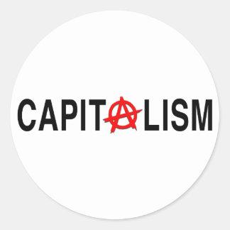 Anarcho Capitalism Classic Round Sticker