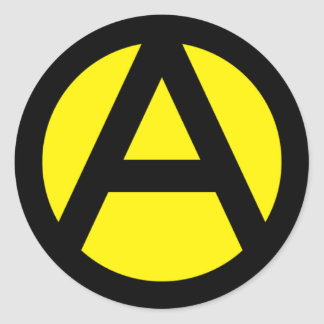 Anarcho-Capitalism Classic Round Sticker