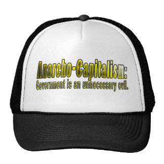 Anarcho-Capitalism Mesh Hat