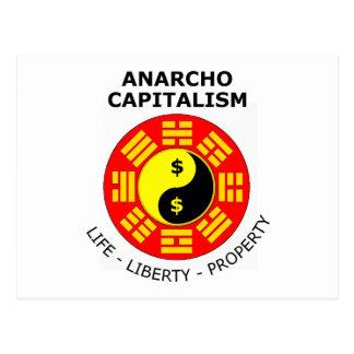 Anarcho Capitalism - Life, Liberty, Property Postcard