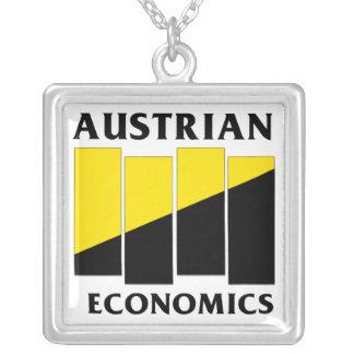 Anarcho Capitalism Square Pendant Necklace