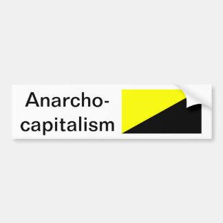 Anarcho-Capitalismo Etiqueta De Parachoque