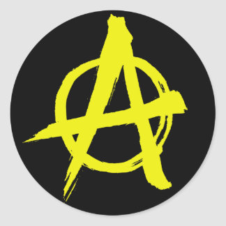 Anarcho-capitalist Anarchy Symbol Sticker