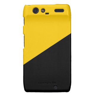 Anarcho Capitalist Black and Yellow Droid RAZR Covers
