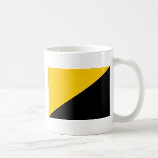 Anarcho Capitalist Black and Yellow Classic White Coffee Mug