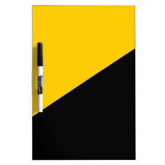 Anarcho Capitalist Black and Yellow Dry Erase Whiteboard