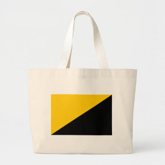 Anarcho Capitalist Black and Yellow Large Tote Bag